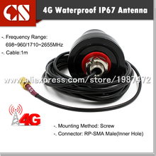 free shipping Quality outdoor lte antenna 4g module antenna 4g modem antenna,1m cable RP-SMA MALE(Inner hole)