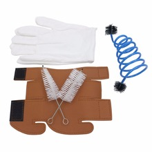 SLADE Trumpet Maintenance and Care Tool Kit Set Includes Trumpet Gloves + Cleaning Brushes + Protective Cover(China)