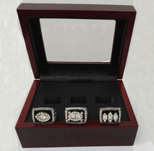 Drop Shipping For Super Bowl 3 Years Sets 1976/1980/1983 Oakland Raiders Championship Ring With Wooden Boxes(China)