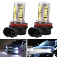 H11 H8 Super Bright 5630 33 SMD Auto LED White Fog Lamp Light Bulb Driving Car Lights - COCHETOP Official Store store