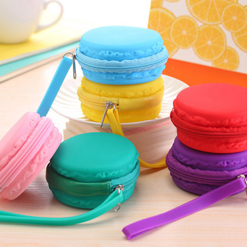 1pcs lovely candy color macarons silicone girl coin purses child change purse,lady students zero wallets bag key cosmetic holder<br><br>Aliexpress