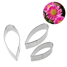 3pc Gerbera Daisy Flower Pattern Cake Cookie Cutter Baking Mold Stainless Steel Biscuit Fondant Modeling Shape Decorational Tool