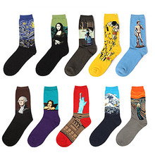 New Fashion 3D Print Art Women Socks Funny Oil Painting Cotton Sock Man Colorful Winter Harajuku Socks Unisex Chaussette