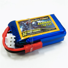 Giant Power LIPO 7.4V 2S 450MAH 25C Low Resistance Battery Good Consistency Ultra Light Rechargeable Lipo Battery RC Battery