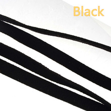 diy black leather cord bangles necklaces keychain handmade imitate rope flat braid thread 8mm suppliers for jewelry findings 10m