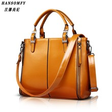 HNSF 100% Genuine leather Women handbags 2017 New Fashion Handbag Brown Women Bag Vintage Messenger Bag Office Ladie Briefcase