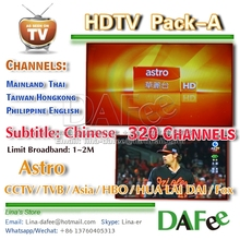 Super 4K TV Box H96 Pro 3G/32G HD IPTV Astro Malaysia/Chinese/Thai/Vietnam Popular 350 Channels 1 year Free DHL Ship