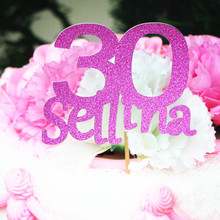 Personalized custom monogram cake topper 30th 40th 16th 50th 60th 70th 25th birthday wedding party decoration top