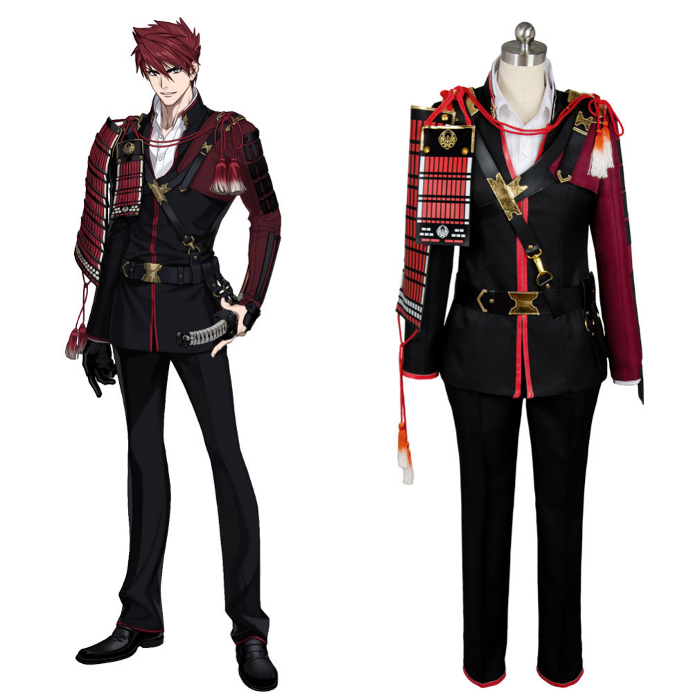 Touken Token Ranbu Ookanehira Outfit Original Cosplay Costume Accessories Belt Coat Pants Shirt Anime Halloween