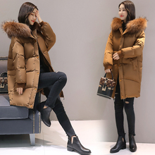 2017 New Fashion Hooded Larger Fur Collar Women Winter Jackets and Coats Female Cotton Padded Long Parkas Ladies Snowwear 5XL