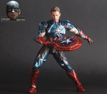 Captain America Avengers Action Figures Change Hand Hot Toys Super Hero Marvel Iron Man Marvel's Model Toys Gifts 25cm(China)