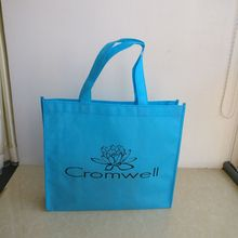 wholesale 500pcs/lot 40x30Hx10cm Custom recycling TNT shopping bags for trade show(China)