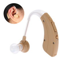 New Mini Behind Ear Hearing Aid Volume Adjustable Ear Sound Amplifier Hearing Assistance with Earplugs Audiphone Gift #VHP-220