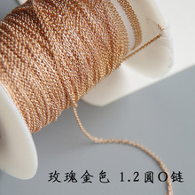 16inch/18inch Gold filled round O-shape chain,approx. 1.2mm,good quality,rose gold chains DIY handmade jewelry findings J1383(China)