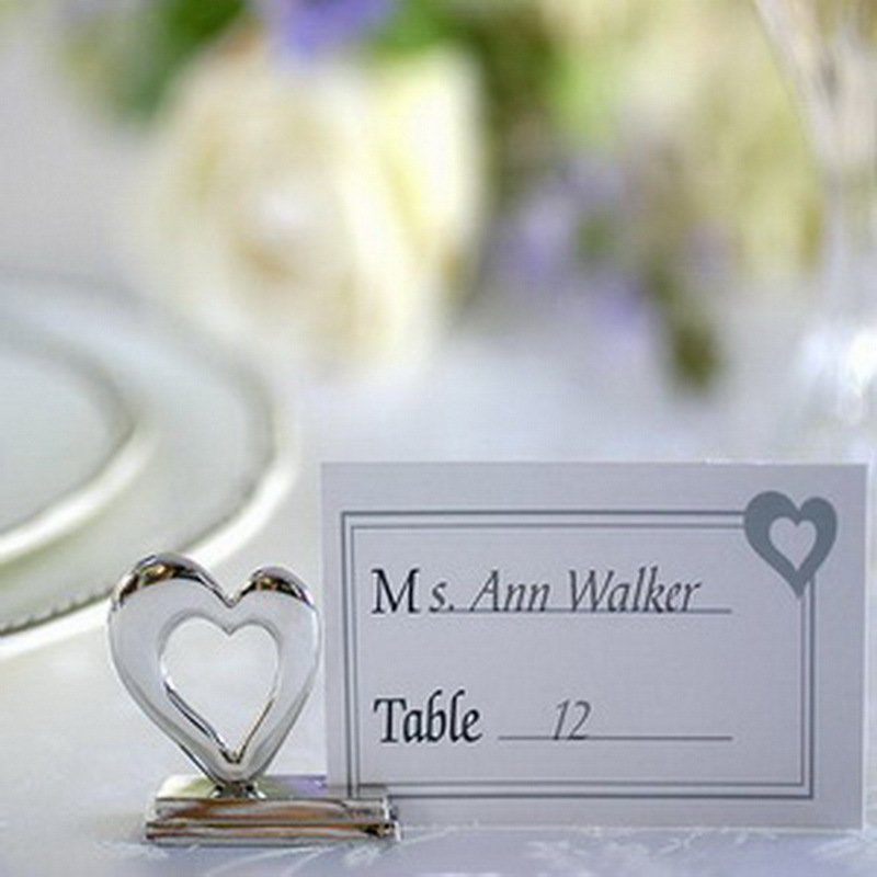 design playful hearts silver place card holdername holder wedding party decoration favorsfree shipping