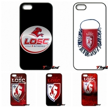 For iPhone 4 4S 5 5C SE 6 6S 7 Plus Galaxy J5 J3 A5 A3 2016 S5 S7 S6 Edge Losc Lille logo French Football League Phone Cases
