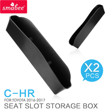SMABEE  Seat Crevice Storage Box / Bag For TOYOTA C-HR 2016 2017 Car Central Armrest Box storage box ABS Interior Accessories