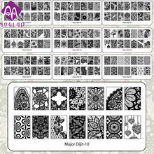 Free shipping high quality nail art template lace major digit nail art stamp stamping image plate with 10 designs
