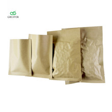 Logo Printing Various Sizes Open Top Pouches 100/Pack Heavy-Duty 5.5MIL Kraft Foil Flat Storage Food Bags W/Tear Notch Thick