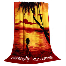 70*150cm Hot Sale Absorbent Microfiber Bath Beach Towel Drying Washcloth Swimwear Shower for seaside holiday gift(China)