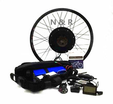 Free shipping 48v 1500w electric bike conversion kit with 48v 13ah samsung cell triangle lithium battery(China)