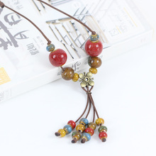 2016 New fashion women's ceramic classic neclaces & Pendants DIY handmade necklace for women Christmas Gift #DX2523