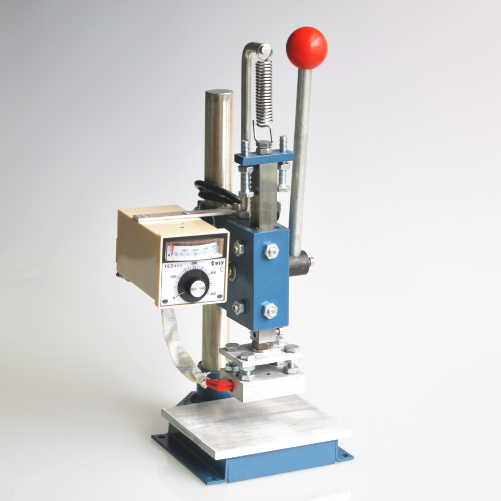 Adjustable temperature heat Embossing machine hot foil Brass Stamp logo Tool220v
