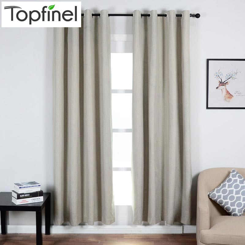 Topfinel Thick Solid Thermal Insulated 100% Shading Blackout Curtains for Living Room Bedroom Window Treatments Curtains Panel