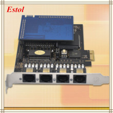 4 Ports E1/T1/J1 Asterisk PRI card with hardware echo cancellation module PCI-Express interfac ISDN SS7