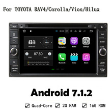 Car DVD Player GPS NAVI Unit For Toyota RAV4 Corolla Vios Hilux Land Cruiser Fortuner Prado Terios 2006-2010 4 Core Android 7.1