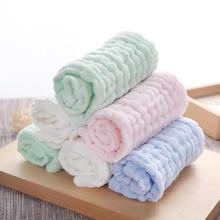 Soft Baby Newborn Towel 2pcs/lot Infant Washcloth Bathing Feeding Wipe baby handkerchief face towels 26*26cm Handkerchief D3(China)