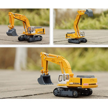 KDW 1:87 Scale Diecast Crawler Alloy Excavator Metal Car Model Truck Mini Digger Model Toy for Kids(China)