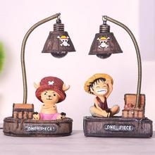 One Piece Choba Luffy Led Nightlight Home Furnishing Resin Home Decoration Japanese Anime Figures One Piece Luffy Action Figure