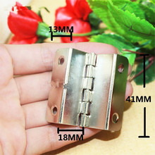 White/Silver Color Cabinet Door Luggage Hinge,Double Hinge Decor,Furniture Decoration,Antique Vintage Old Style,41*18*13mm,12pcs