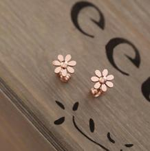 Spring Collection Korea Design Rose Cute  Daisy Flower Elegant Piercing Stud Earrings  for Women & Girl Wholesale