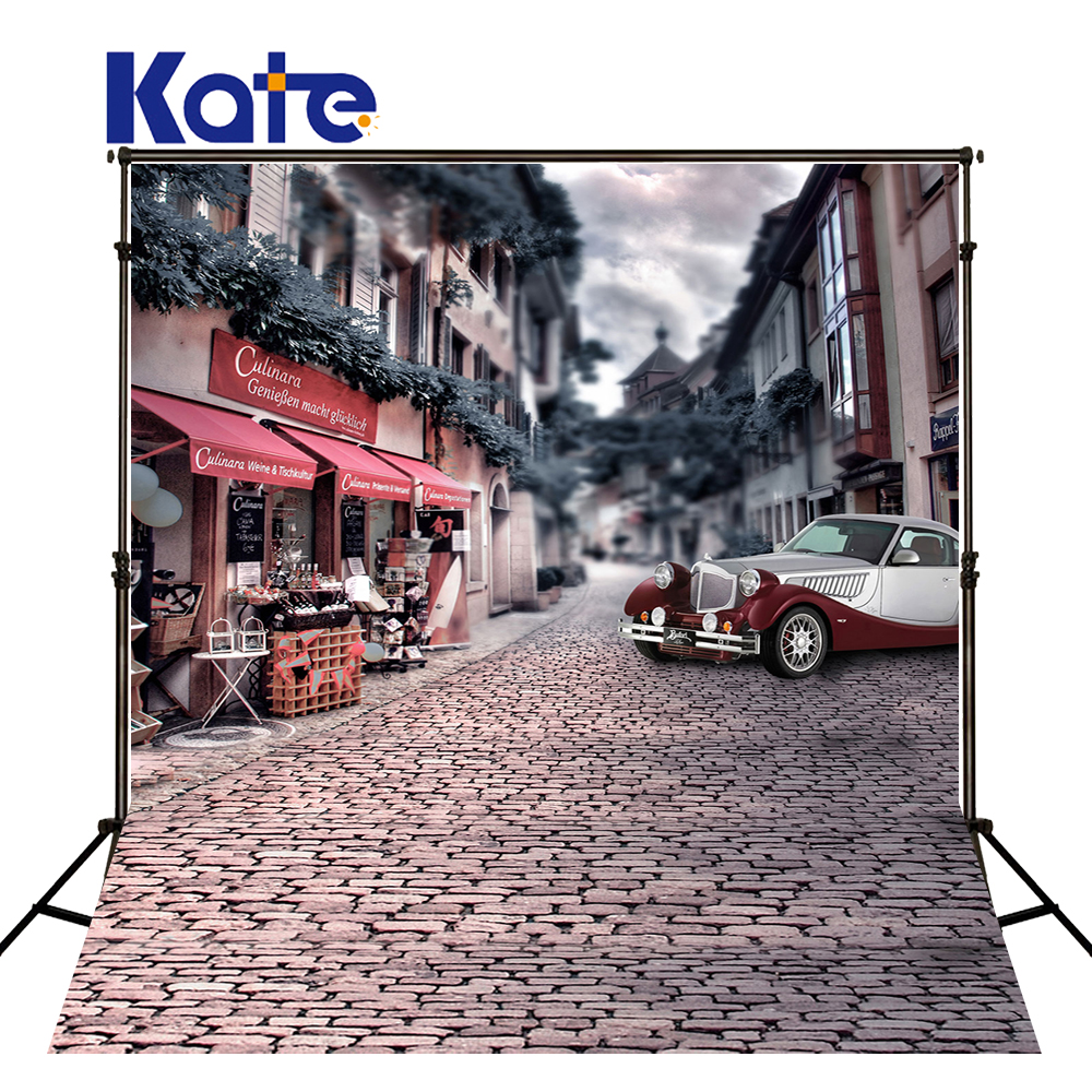 5Feet*6.5Feet Background Street Limousine Photography Backdropsthick Cloth Photography Backdrop 3074 Lk<br>