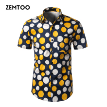 Buy Summer 2017 Brand Men's Polka Dot Shirts Short Sleeve Casual Men's Dress Shirt Camisa Masculina Men Social Shirt Slim Fit ZE0324 for $12.52 in AliExpress store