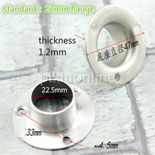 2pcs DS313b Thicken Stainless Steel Flange Housing Standard 22mm Pad Type Flange Towel Rack Install Use Sale at a Loss Spain