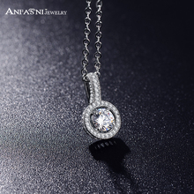 ANFASNI Wholesale Women's Elegant Jewelry Accessories Fashion Round Pendant&Necklace AAA Cubic Zirconia Necklace CNL0052-B(China)