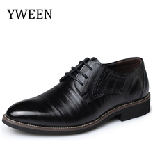 YWEEN Fashion High Quality Leather Shoes Men,Lace up Business Men's Shoes,Men Dress Shoes,Spring Oxfords shoes(China)