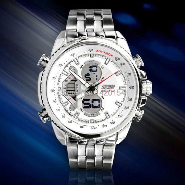 Luxury Multiple Time Zone Waterproof Analog Digital Sport Watches Men<br>