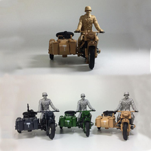 Atlas 1:24 Yangtze River 750 Prototype Three-Wheeled Motorcycle World War II German R75 B M W Motorcycle Model(China)