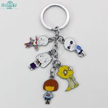Halder Undertale Animals Games Five pcs Cosplay Figures Charms Key Chains  Phone Strap Trinkets Accessories Gadgets Keychain