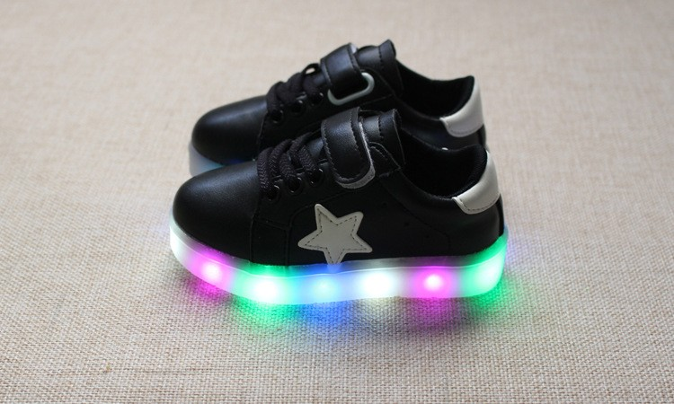 New 17 Cool LED lighted fashion new brand breathable children shoes cute little baby girls boys shoes kids sneakers 10