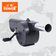 Hewolf New Outdoor Cooking BBQ Fan Air Blower For Barbecue Fire Bellows Hand Crank Tool Picnic Camping BBQ 1311