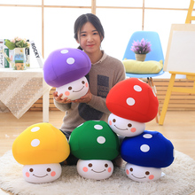 wholesale Cartoon mushroom Super Marble Pillow feather cushion Cute cartoon love pillow High quality and low price 35cm