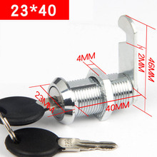 23*40 Drawer lock Cam Cylinder Locks Door Cabinet Mailbox Drawer Cupboard Locker Furniture Locks With Plastic Keys Hardware(China)
