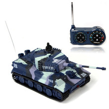 High Quality New Mini 1:72 49MHz R/C Radio Remote Control Tiger Tank 20M Kids Toy Gift Navy Blue Birthday Gift Navy Green Yellow(China)