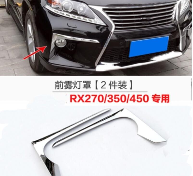2PCS 3M Adhesive Front Chrome Head Light Trim Cover Bezel LEXUS LX570 2008-2011
