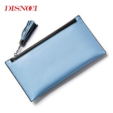 DISNOCI Lovely Leather Long Women Wallet Fashion Girls Change Purse Money Coin Card Holders Wallets Mobile Phone Bag(China)